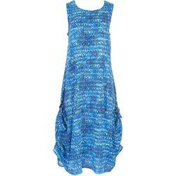 Kaktus Womens Tropical Midi Dress
