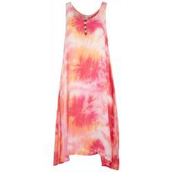 Womens Sleeveless Tie Dye Dress