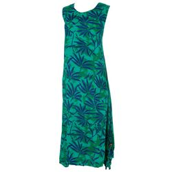 Kaktus Womens Relaxed Tropical Printed Dress