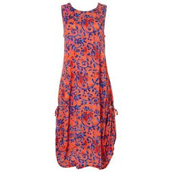 Kaktus Womens Relaxed Swirl Sleeveless Dress