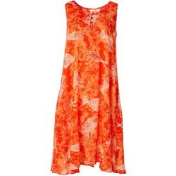 Kaktus Womens Sleeveless Relaxed Fish Print Dress