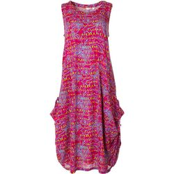Kaktus Womens Relaxed Floral Design Dress