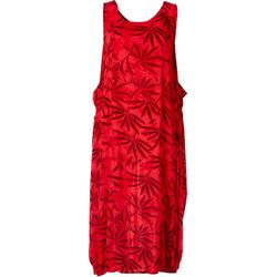 Kaktus Womens Sleeveless Palms Dress
