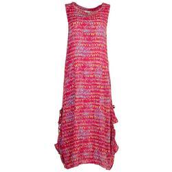 Womens Tropical Midi Dress