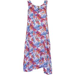 Kaktus Womens Relaxed Tropical Print Dress
