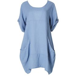 Vasna Womens Solid Mid Sleeve Casual Dress