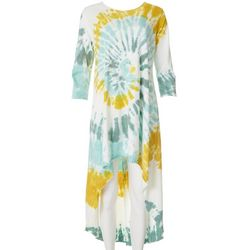 Vasna Womens Tie-Dye High-Low Dress