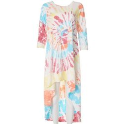 Vasna Womens Tie-Dye High-Low Casual Dress