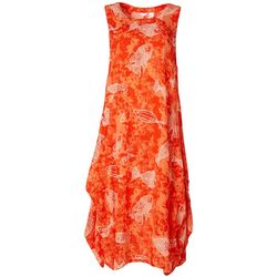 Kaktus Womens Sleeveless Fish Print Dress