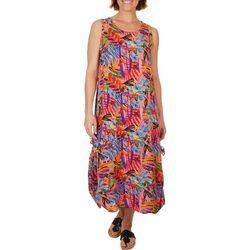 Kaktus Womens 2-Way Wearing Floral Midi Dress