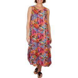 Womens 2-Way Wearing Floral Midi Dress