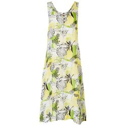 Kaktus Womens Flowy Floral Midi Dress