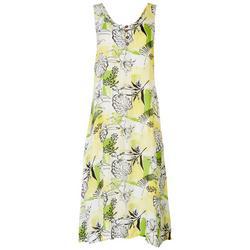 Womens Flowy Floral Midi Dress