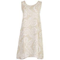 Vasna Womens Arabesque Pure Linen Dress