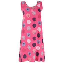 Vasna Womens Dotted Pure Linen Dress