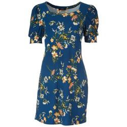 Womens Floral Knit Dress