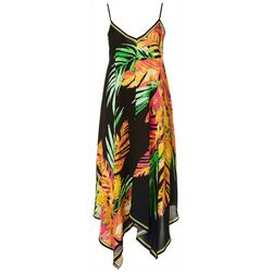 Flying Tomato Womens Tropical Midi Dress