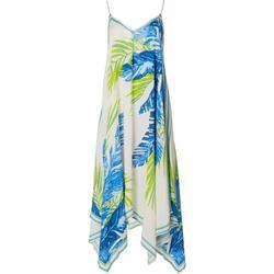Womens Leafy Midi Dress