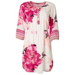 Figueroa & Flower Womens Floral Tie Front Dress