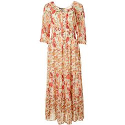 Figueroa & Flower Womens Floral Printed Maxi Dress