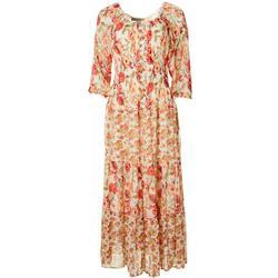 Figueroa & Flower Womens Floral Printed Maxi Dress