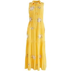 Figueroa and Flower Womens Floral Tiered Maxi Dress