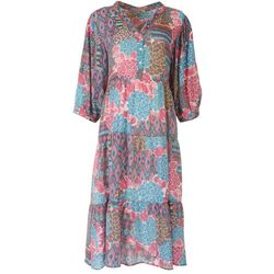 Figueroa & Flower Womens Flower Printed Maxi Dress
