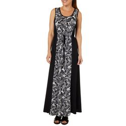 Espresso Womens Tropical Floral Tie Waist Maxi Dress
