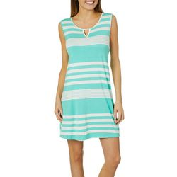Espresso Womens Striped Keyhole Sundress