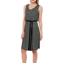Espresso Womens Belted Striped Sundress