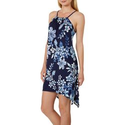 Espresso Womens Floral Puff Print Sleeveless Dress
