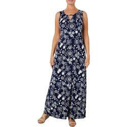 Espresso Womens Floral Puff Print Maxi Dress