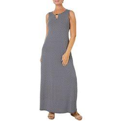 Espresso Womens Geometric Puff Print Maxi Dress