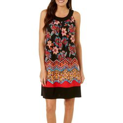Enfocus Womens Mixed Floral Print Dress