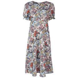 Ava James Womens Elegant Florida Midi Dress