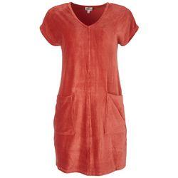 Ava James Womens Pocketed Dress
