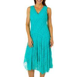 Rabbit Rabbit Womens Lace Faux-Wrap Dress