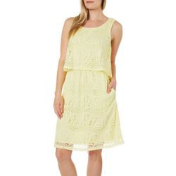 Rabbit Rabbit Womens Lace Popover Dress