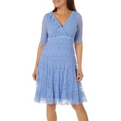 Rabbit Rabbit Womens Solid Lace Dress