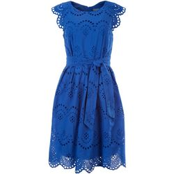 Rabbit Rabbit Womens Eyelet Swing Dress