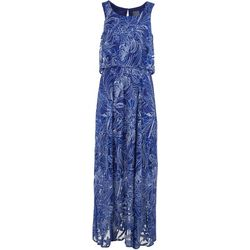Rabbit Rabbit Womens Floral Sleeveless Maxi Dress