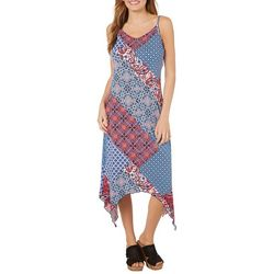 Lennie Womens Mixed Paisley Patchwork Sundress
