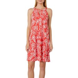 Lennie Womens Floral Puff Print Keyhole Sundress