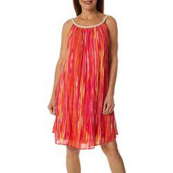 Womens Braided Tie Dye Stripe Sundress