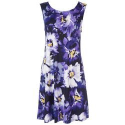Nina Leonard Womens Violet Sun Dress