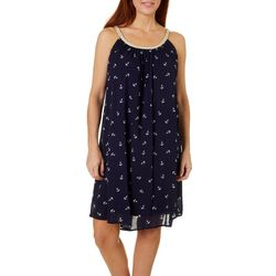 Nina Leonard Womens Braided Anchor Sundress