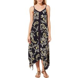 Lennie Womens Floral Puff Print Handkerchief Dress