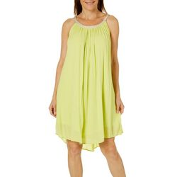 Lennie Womens Gauze Solid Sundress