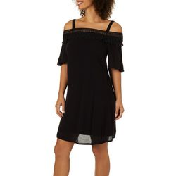Lennie Womens Crochet Cold Shoulder Sundress