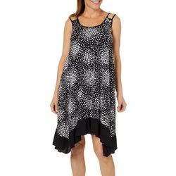 Lennie Womens Geo Dot Sharkbite Hem Sundress